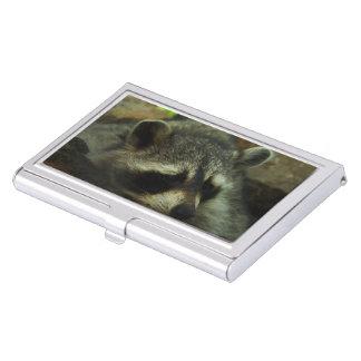 Sleepy Raccoon - Wildlife Photography Animals Business Card Holder