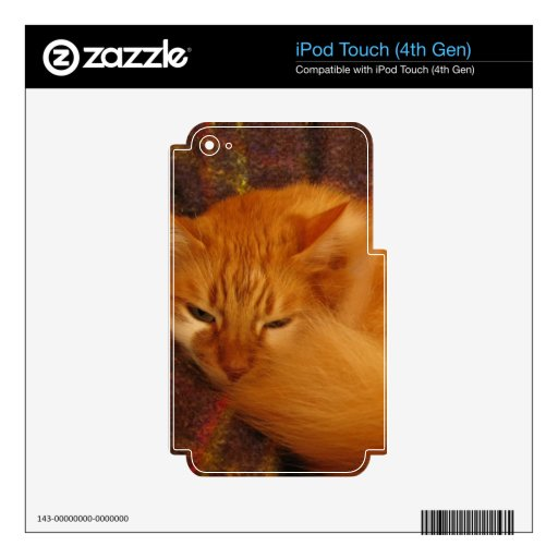Sleepy Red Cat - Will you finally let me sleep? Skin For iPod Touch 4G