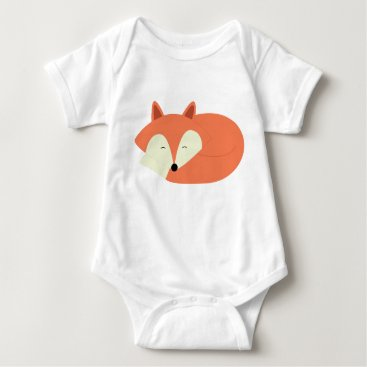heartlocked Sleepy Red Fox Baby Bodysuit