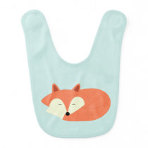 Sleepy Red Fox Bib