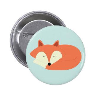 Sleepy Red Fox 2 Inch Round Button