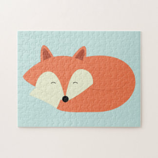 Sleepy Red Fox Jigsaw Puzzle