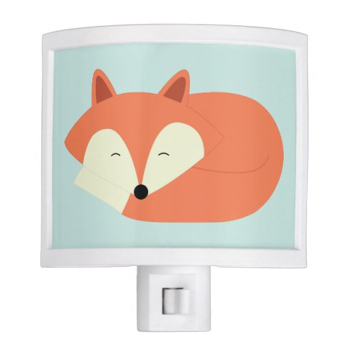 Sleepy Red Fox Night Light