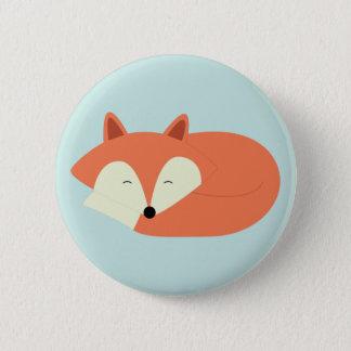 Sleepy Red Fox Pinback Button