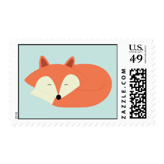 Sleepy Red Fox Stamps