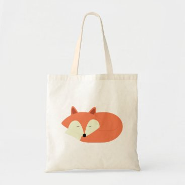 heartlocked Sleepy Red Fox Tote Bag