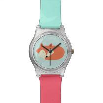 Sleepy Red Fox Wristwatch