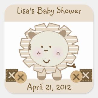 Sleepy Safari Cute Lion Stickers/Envelope Seals Square Sticker