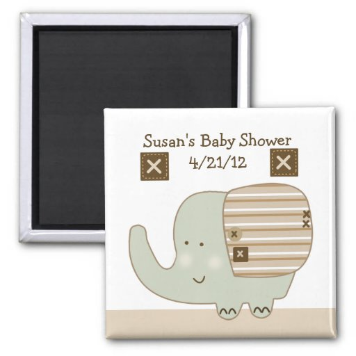 Sleepy Safari Elephant Magnet/Keepsake/Party Favor Magnet