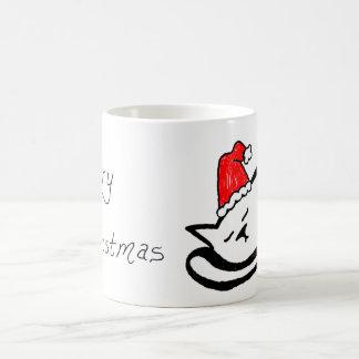 Sleepy Santa Cat Mug (customizable)