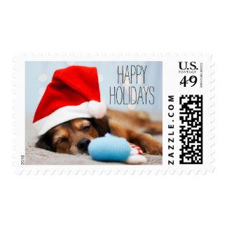 Sleepy Santa Postage Stamp