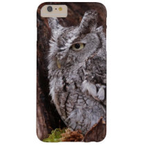 Sleepy Screech Owl Barely There iPhone 6 Plus Case