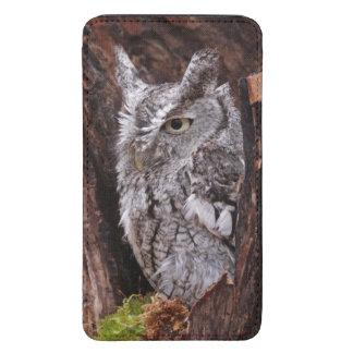 Sleepy Screech Owl Galaxy S5 Pouch