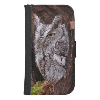 Sleepy Screech Owl Phone Wallet