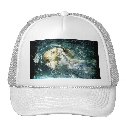 Sleepy Sea Otter Wildlife Supporter Trucker Cap Trucker Hat