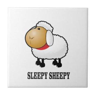 sleepy sheep ceramic tile
