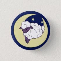 Sleepy Sheepy (Purple) Button