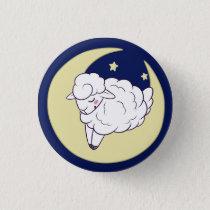 Sleepy Sheepy (White) Button