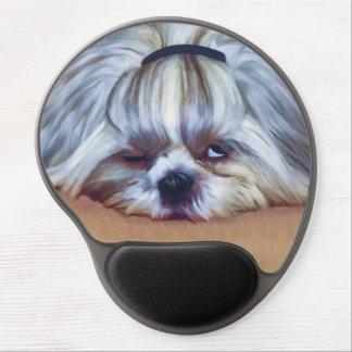 Sleepy Shih Tzu Dog Gel Mouse Pad