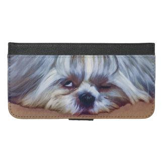 Sleepy Shih Tzu Dog iPhone 6/6s Plus Wallet Case