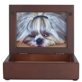 Sleepy Shih Tzu Dog Memory Boxes