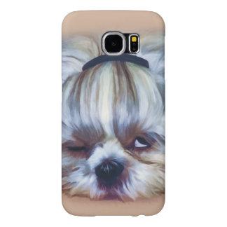 Sleepy Shih Tzu Dog Samsung Galaxy S6 Case