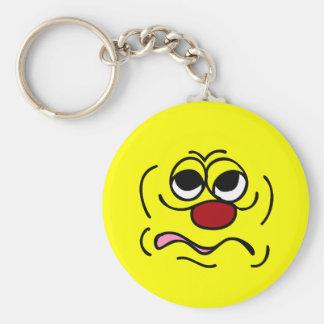 Sleepy Smiley Face Grumpey Keychain