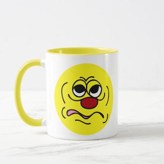 Sleepy Smiley Face Grumpey Mug
