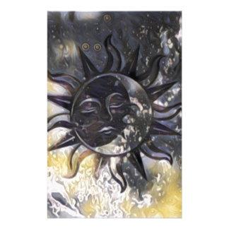 Sleepy Sun Moon Stationery