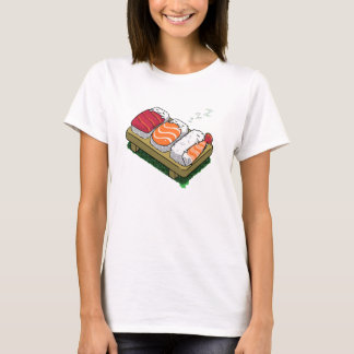 sleepy sushi women cute funny t-shirt