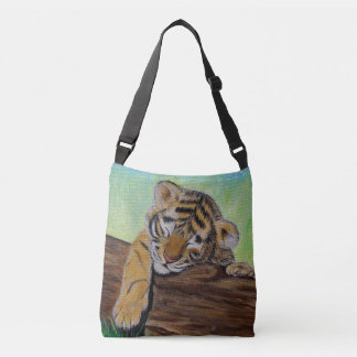 Sleepy Tiger Cub Crossbody Bag