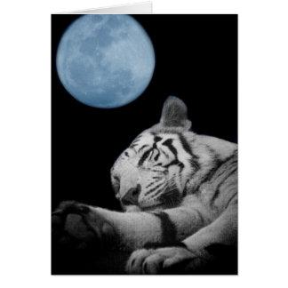Sleepy Tiger Greeting Card