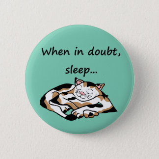 Sleepy Time Cat Button