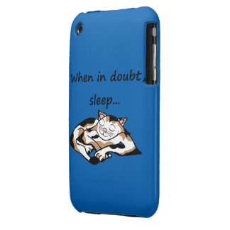 Sleepy time Cat iPhone 3 Case-Mate Cases