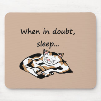 Sleepy time Cat Mouse Pad