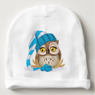 Sleepy Time Owl Baby Hat - See Back!