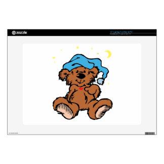 """Sleepy Time Teddy Bear Decal For 15"""" Laptop"""