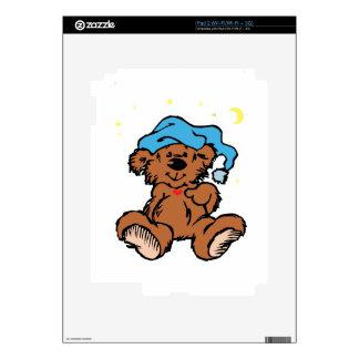 Sleepy Time Teddy Bear iPad 2 Decals