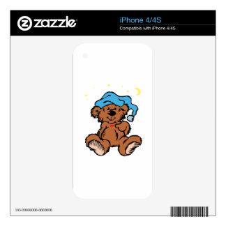 Sleepy Time Teddy Bear iPhone 4 Skins