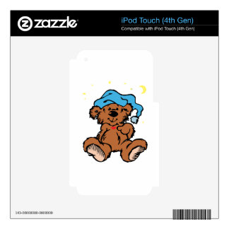 Sleepy Time Teddy Bear iPod Touch 4G Decals