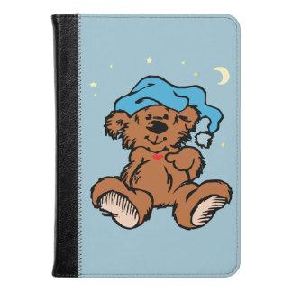 Sleepy Time Teddy Bear Moon Stars Blue Folio Cover