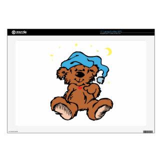 "Sleepy Time Teddy Bear Skin For 17"" Laptop"