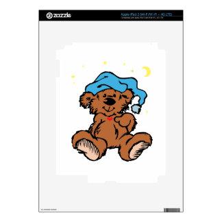 Sleepy Time Teddy Bear Skin For iPad 3