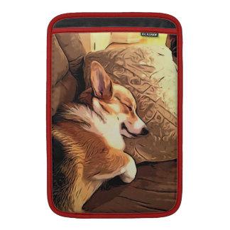 Sleepy Tricolor Corgi MacBook Air Sleeve