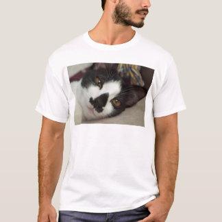 Sleepy Tuxedo Cat T-Shirt