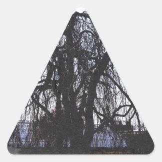 Sleepy Willow Triangle Sticker