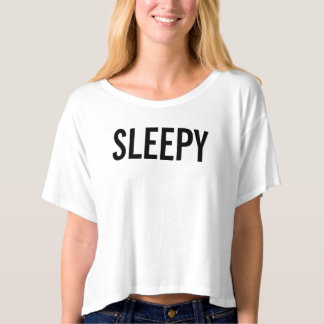 Sleepy Women's Crop Top T-Shirt