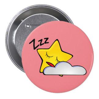 Sleepy Yellow Star Button