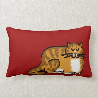 sleepycat orange tabby lumbar pillow
