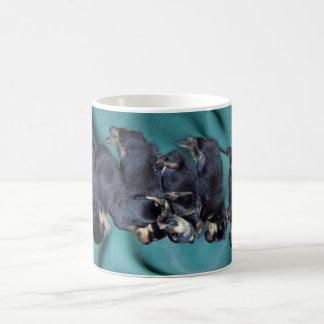 sleepyhead rottweiler puppies coffee mug